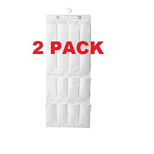 Ikea Storage Organizer Hanger 16 Pocket (2 Pack) White Durable