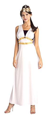 UHC Women's Roman Maiden Outfit Historic Theme Fancy Dress Goddess Venus Costume, STD (Roman Maiden Adult Costumes)