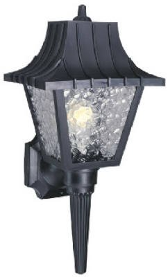 Westinghouse Outdoor Poly Wall Lantern Fixture A19 B13 8 In. Black Polypropylene,Blk Uses 1 Med Base