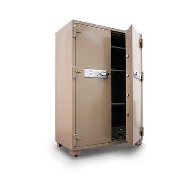 """2 Hr Fireproof Security Safe Lock Type: Electronic Lock, Size: 67.5"""" H, Doors: Double Door"""