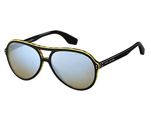 Sunglasses Marc Jacobs 392 /S 0807 Black / 3U khaki mirror blue lens