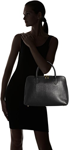 en in inspider coup cuir Made sac sac véritable 100 38x28x10cm imprimé CTM Nero à main Noir Italy femmes zpBwqF