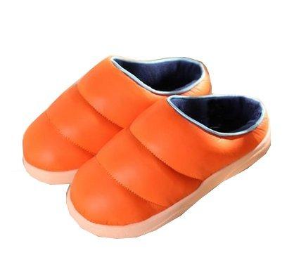 Pantofole Di Pantofole Da Camera Da Letto In Velluto Di Cotone Di Colore Solido Di Blubi Pantofole Da Camera Arancione