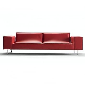 Jung, un sofá moderno piel, Sophistiqué, lineal y amplio para 220 x 95 x 63 cm ...