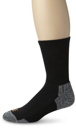 Sox Thin - PowerSox Men's Power-Lites 3-Pack Crew Socks with Moisture Control Black Shoe Size: 9-12.5