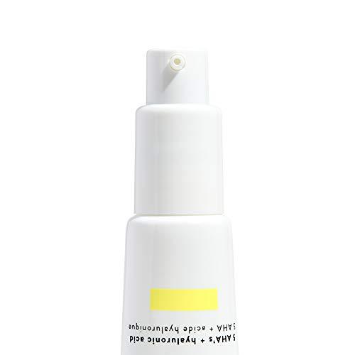 Honest Beauty Beauty Sleep Resurfacing Serum with 5 AHAs + Hyaluronic Acid   VEGAN   Paraben Free, Synthetic Fragrance Free, Dermatologist Tested & Cruelty Free   1 fl. oz.