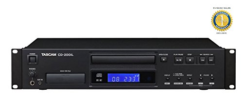 Professional Dj Dual Cd Player (Tascam CD-200iL Professional CD player with 30-Pin, Lightning iPod dock and 1 Year Free Extended Warranty)