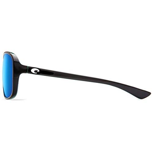 Costa Mirror Kiwi Shiny Riverton Black Blue Womens 81Yrq8