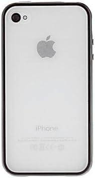 Comprar Diseño Especial Fondo Transparente y Color sólido Estuche rígido del Marco para el iPhone 4/4S (Colores Surtidos), Púrpula: Amazon.es: Electrónica