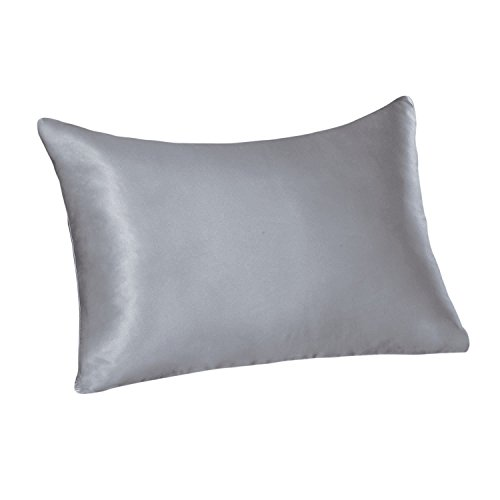 14 Beauty Case (Tim & Tina 22 Momme 100% Pure Mulberry Luxury Silk Pillowcase, Good for Skin and Hair, Facial Beauty (Toddler/Travel, Silver grey))