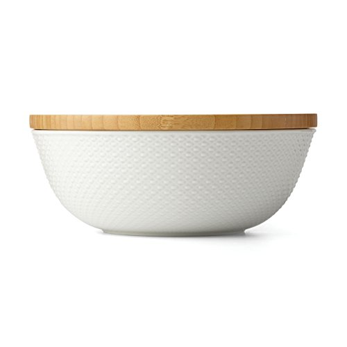 (Lenox Entertain 365 Surface Large Covered Bowl, White)