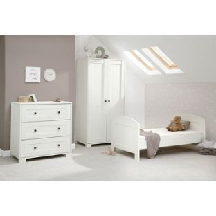 mamas and papas harrow 3 piece nursery furniture set white