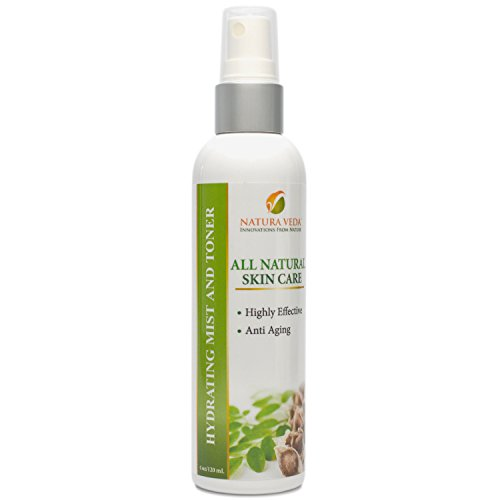 Natura Veda - All Natural Hydrating Mist and Toner - Anti Aging - 4oz/120 ml