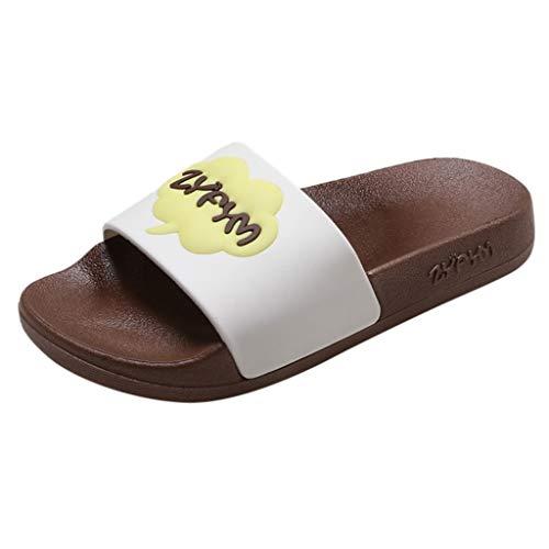 Tantisy ♣↭♣ Boys Girls Slide Sandals Kids Outdoor Beach Pool Sandal Soft Unicorn Bath Slippers (Toddler/Little Kid) Brown -
