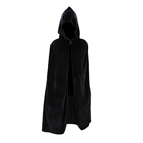 [Acecharming Kids Long Hooded Cape Halloween Fancy Dress (Black)] (Vampire Dress For Kids)