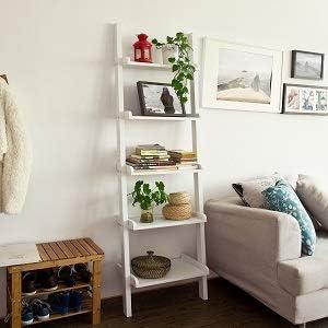 Haotian Modern 5 Tiers Ladder Shelf Bookcase