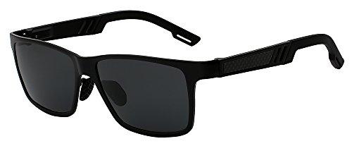 919cb00a88 Eyewear Lunettes Tianliang04 nbsp;aluminium Homme Femme Pour Soleil Black  Et Accessoires De Polarisées Miroir Hommes W Carré QrBthdsxCo