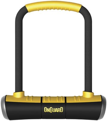 OnGuard 8000 Series Brute STD 16mm U-Lock – Black Yellow