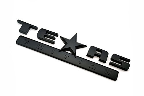 Matte Black Texas Edition Rear Boot Truck Chromed Emblem Badge Decal Sticker for Chevrolet Chevy Silverado and GMC Sierra Car Styles Accessories 2pcs