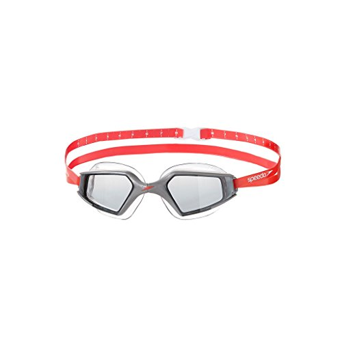 Speedo Aquapulse Swimming Goggles, Free Size (Silver/Smoke)