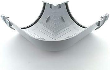 Black Marley Highflo 170mm 90 Degree Angle R451 White Black Grey