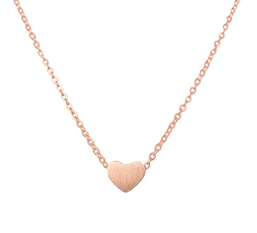 b80c59465d1eb Altitude Boutique Simple Heart Necklace for Her, Pendant Love Choker or  Long Style Necklace for Women (Rose Gold)