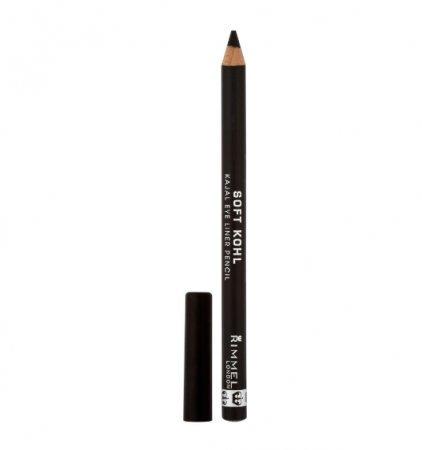 Rimmel Soft Kohl Kajal Eye Pencil, Jet Black 0.04 oz (Pack of 4)