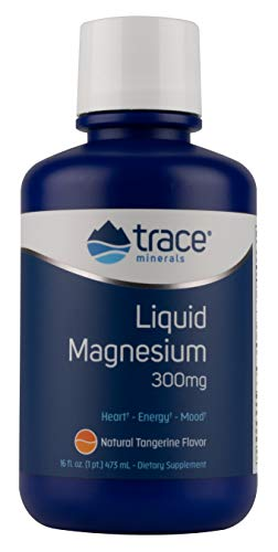 Magnesium Chloride Dietary Supplement - Trace Minerals Research Liquid Magnesium 300 Mg, 16 Fl oz