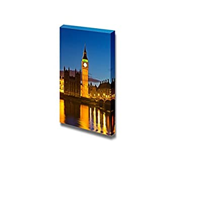 Canvas Prints Wall Art - Beautiful Scenery/Landscape Big Ben at Night, UK | Modern Wall Decor/Home Decoration Stretched Gallery Canvas Wrap Giclee Print & Ready to Hang - 36
