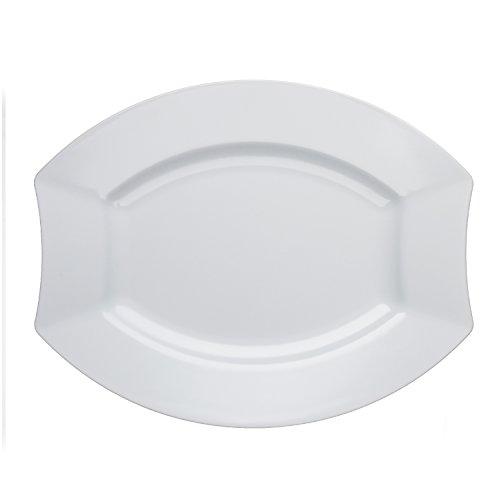 microwave plates plastic oval - 1
