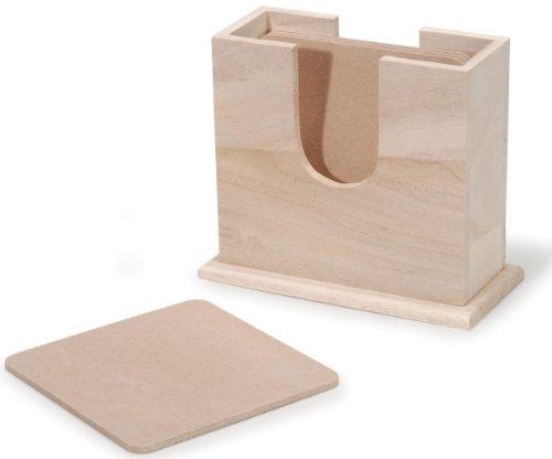 Unfinished Craft Wood Coaster Set