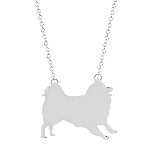 (Silver or gold Samoyed Necklace , Samoyed Dog Jewelry , Samoyed Silhouette Charm , Samoyed Pendant , Cute Dog Necklace , Dog Pendant (Silver))