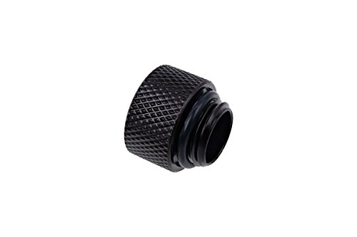 Alphacool 17254 Eiszapfen Extension G1/4 Outer Thread to G1/4 Inner Thread - deep Black Water Cooling Fittings ()