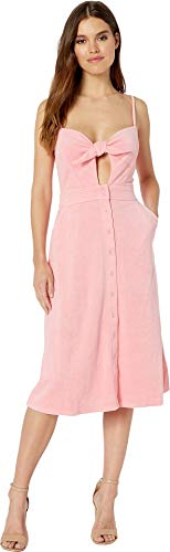 Juicy Couture Women's Microterry Tie Front Maxi Dress Sorbet Pink Small