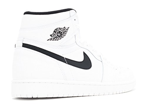 Nike Heren Air Jordan 1 Mid Basketbalschoen Wit, Zwart-wit