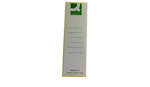 Q-Connect - Etiquetas para lomo de archivador (10 unidades): Amazon.es: Oficina y papelería