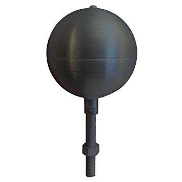 Flagpole ball top ornament 3 Inch Aluminum Anodized Black