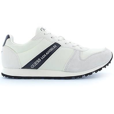 innovative design 4d321 5d592 Guess Sneaker Herren Justin Suede Active White_43: Amazon.de ...