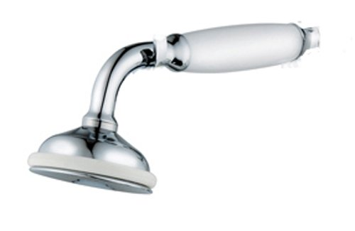 GrandTapz (TM) Antique Victorian Style HandHeld Shower Head White Hand Grip BSP Male Connection Grand Taps Swan 4 shower head