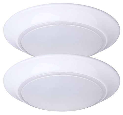 LIT-PaTH 7.5 Inch LED Flush Mount Ceiling Light Fixture, 11.5W (75W Equivalent), Dimmable, 800 Lumen, ETL and ES Qualified, 2-Pack