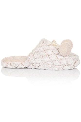 Loungeable Boutique64515 - talón abierto mujer Cream - Taupe