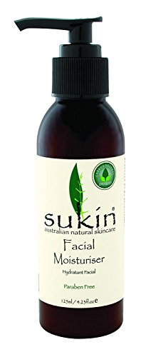 Sukin Facial Moisturiser Pump, 4.23 Fluid Ounce (Best Moisturiser For Dark Skin)