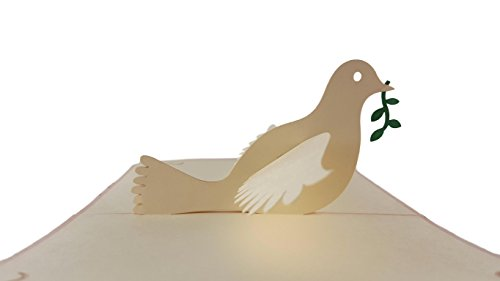 - iGifts And Cards The Dove With Olive Branch 3D Pop Up Greeting Card - Peace, Religious, Holy, Spirit, Bible, Wow, Half-Fold, Confirmation, First Communion, Baptism, Wedding, Thinking of You, Christmas