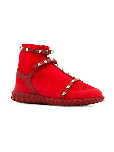 Valentino Garavani Damen Pw2s0f82pbh0ro Rot Polyamid Slip On Sneakers