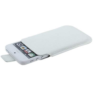 iPhone 5S / 5 Premium Kunst-Ledertasche / Tasche in weiß aus hochwertigem Lederimitat -Original nur von THESMARTGUARD-