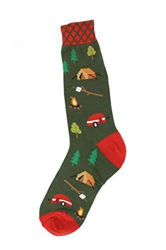 Camping-Themed Socks For Men made our CampingForFoodies hand-selected list of 100+ Camping Stocking Stuffers For RV And Tent Campers!
