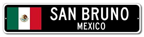 Mexico Flag Sign - SAN BRUNO, MEXICO - Mexican Custom Flag Sign - 9