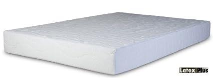 Plus colchón de látex ortopédico con Natural látex Talalay - Super King Size, 6 0 pies (180 x 200 cm) - Regular comodidad - con cremallera cubierta ...