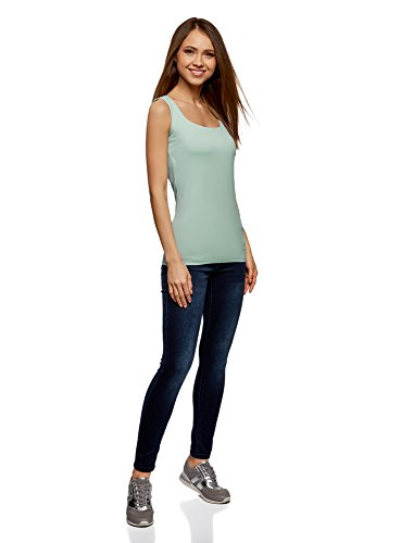 Donna Larghe Verde Spalline Collection in oodji Elastico Top 7000n Tessuto a 5zRx8zwOq1