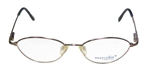 Marcolin 7209 Womens/Ladies Prescription Ready Light Weight Designer Full-rim Flexible Hinges Eyeglasses/Eyewear (51-17-135, Gold / Pinkish (Marco Polo Costume)